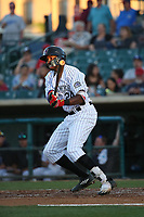 Wes Rogers (24) of the Lancaster JetHawks bats against the Lake Elsinore Storm at The Hanger on June 14, 2017 in Lancaster, California. Lancaster defeated Lake Elsinore, 4-0. (Larry Goren/Four Seam Images)