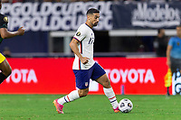 DALLAS, TX - JULY 25: Sebastian Lletget #17 of the United States moves with the ball during a game between Jamaica and USMNT at AT&T Stadium on July 25, 2021 in Dallas, Texas.