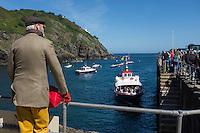 Royaume-Uni, îles Anglo-Normandes, île de Sark (Sercq): Port  de Maseline harbour : arrivée du bateau de Guernesey  // United Kingdom, Channel Islands, Sark Island (Sercq):  Maseline harbour