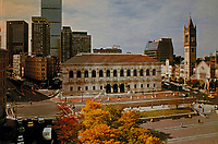 Boston Public Library, facade. Designed by McKim, Mead & White, 1895 in Beaux Arts style.