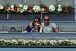 Diego Miranda attends Serena Williams V Petra Kvitova tennis match in Madrid, Spain. May 08, 2015. (ALTERPHOTOS/Victor Blanco)