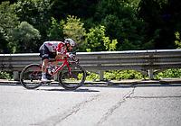 at the Passo di San Boldo<br /> <br /> Stage 19: Treviso to San Martino di Castrozza (151km)<br /> 102nd Giro d'Italia 2019<br /> <br /> ©kramon