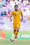 Massimo Luongo of Australia runs with the ball during the AFC Asian Cup UAE 2019 Group B match between Australia (AUS) and Jordan (JOR) at Hazza Bin Zayed Stadium on 06 January 2019 in Al Ain, United Arab Emirates. Photo by Marcio Rodrigo Machado / Power Sport Images