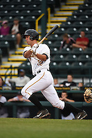 Bradenton Marauders catcher Jacob Stallings (32) during a game against the Jupiter Hammerheads on April 17, 2014 at McKechnie Field in Bradenton, Florida.  Bradenton defeated Jupiter 2-1.  (Mike Janes/Four Seam Images)