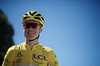 Chris Froome (GBR/SKY) lined up for the start<br /> <br /> stage 16: Morain-en-Montagne to Bern (SUI) / 209km<br /> 103rd Tour de France 2016