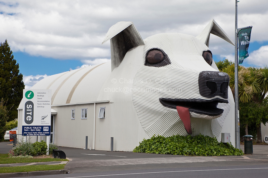 Tirau, New Zealand.  iSite, Government Tourist Information Office.