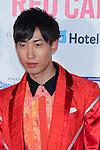 "Sang-Woo(CODE-V), Apr 10, 2016 : Sangwoo, South Korean boy group CODE-V attend ""KCON 2016 JAPAN"" red carpet in Chiba, Japan on April 10, 2016. (Photo by Pasya/AFLO)"