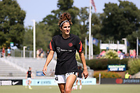 CARY, NC - SEPTEMBER 12: Angela Salem #36 of the Portland Thorns FC heads to the locker room before a game between Portland Thorns FC and North Carolina Courage at Sahlen's Stadium at WakeMed Soccer Park on September 12, 2021 in Cary, North Carolina.