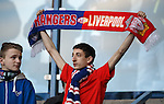 Rangers fans before the minutes silence in respect of the Hillsborough dead