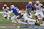 Southern Methodist Mustangs wide receiver Deion Sanders Jr. (2) in action during the game between the Rutgers Scarlet Knights and the SMU Mustangs at the Gerald J. Ford Stadium in Dallas, Texas.  Rutgers leads SMU 21 to 7 at halftime.