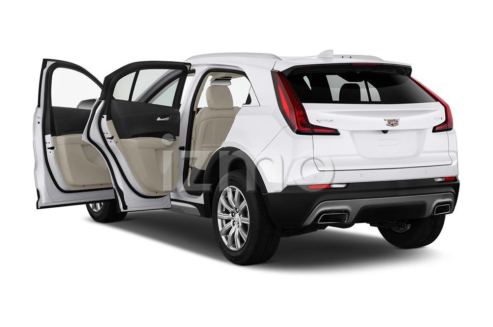 Car images close up view of a 2020 Cadillac XT4 Premium Luxury 5 Door SUV doors