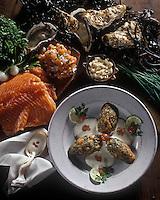 Gastronomie générale/Saumon: Tartare de saumon aux huitres