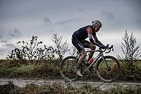 Toms Skujins (EST/Trek-Segafredo)<br /> <br /> 118th Paris-Roubaix 2021 (1.UWT)<br /> One day race from Compiègne to Roubaix (FRA) (257.7km)<br /> <br /> ©kramon