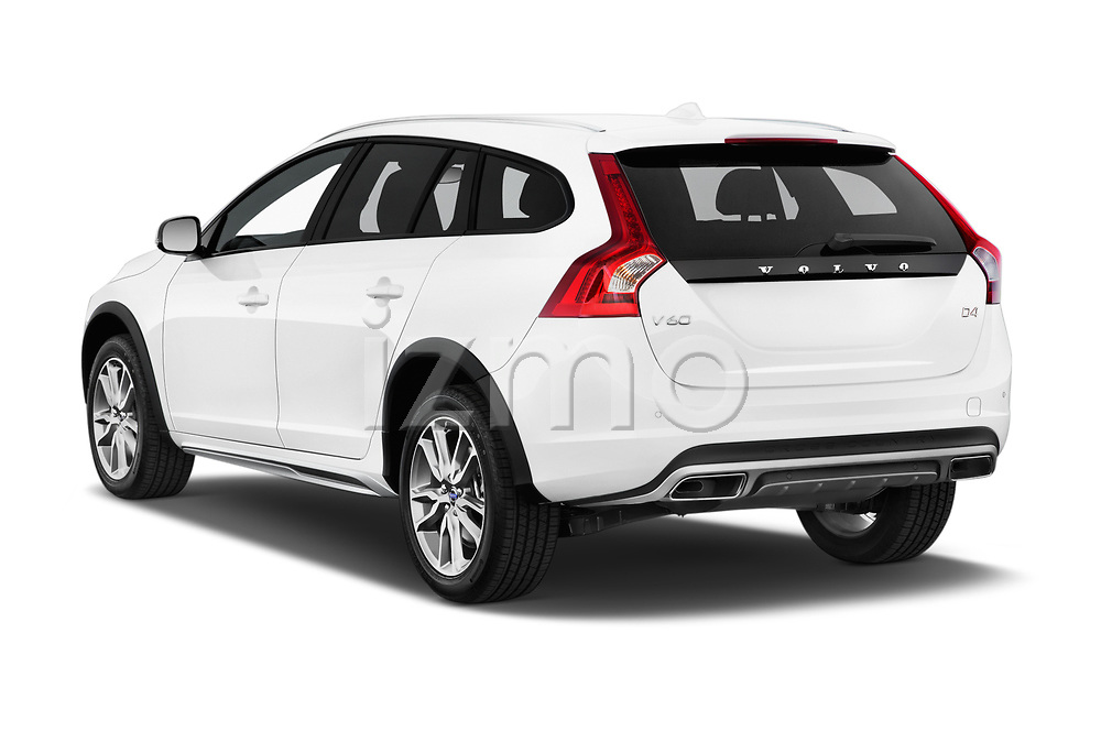 Car pictures of rear three quarter view of 2017 Volvo V60-Cross-Country Summum 5 Door Wagon Angular Rear