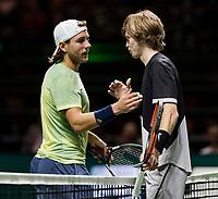 ABNAMRO World Tennis Tournament, 14 Februari, 2018, Rotterdam, The Netherlands, Ahoy, Tennis, Andrey Rublev (RUS), Lucas Pouille (FRA)<br /> <br /> Photo: www.tennisimages.com