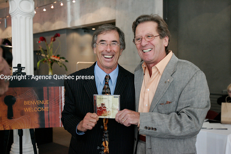 Montreal, Canada. File Photo<br /> <br /> Jean-Pierre Coallier, Albert Millaire in 2005