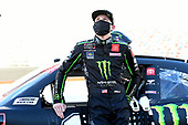 BRISTOL, TENNESSEE - JUNE 01: Riley Herbst, driver of the #18 Monster Energy Toyota, waits on the grid prior to the NASCAR Xfinity Series Cheddar's 300 presented by Alsco at Bristol Motor Speedway on June 01, 2020 in Bristol, Tennessee. (Photo by Jared C. Tilton/Getty Images)