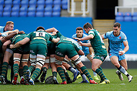 Grayson Hart of London Scottish stalking the ball during the Greene King IPA Championship match between London Irish Rugby Football Club  and London Scottish Football Club at the Madejski Stadium, Reading, England on 2 March 2019. Photo by Carlton Myrie.