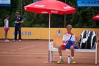 05-08-13, Netherlands, Dordrecht,  TV Desh, Tennis, NJK, National Junior Tennis Championships, Ronetto van Tilburg   <br /> <br /> <br /> Photo: Henk Koster
