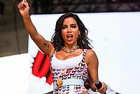 SÃO PAULO, SP, 19.05.2019: VIRADA-SP - A cantora Anitta se apresenta no Vale do Anhangabau durante a Virada Cultura na tarde deste domingo (19) em São Paulo. (Foto: Carla Carniel/Código19)