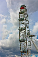 The London Eye against a cloudy backdrop