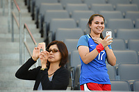 Carson, CA - Thursday August 03, 2017: Fans during a 2017 Tournament of Nations match between the women's national teams of Australia (AUS) and Brazil (BRA) at the StubHub Center.
