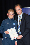 St Johnstone FC Youth Academy Presentation Night at Perth Concert Hall..21.04.14<br /> Alec Cleland presents to Jack Simpson<br /> Picture by Graeme Hart.<br /> Copyright Perthshire Picture Agency<br /> Tel: 01738 623350  Mobile: 07990 594431
