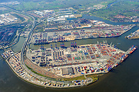 Containerterminal Hamburg: EUROPA, DEUTSCHLAND, HAMBURG, (EUROPE, GERMANY), 17.04.2010 Eurogate Container Terminal Hamburg GmbH und HHLA Container Terminal Burchardkai GmbH