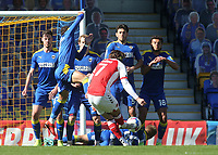 A free-kick from Fleetwood's Wes Burns is blocked by the AFC defensive wall during AFC Wimbledon vs Fleetwood Town, Sky Bet EFL League 1 Football at Plough Lane on 5th April 2021