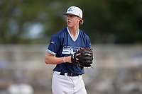 Nicholas Griffin (10) during the WWBA World Championship at the Roger Dean Complex on October 13, 2019 in Jupiter, Florida.  Nicholas Griffin attends Monticello High School in Monticello, AR and is committed to Arkansas.  (Mike Janes/Four Seam Images)