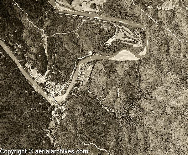 historical aerial photograph Monte Rio, California, 1952
