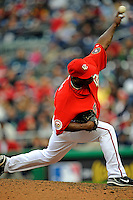 13 April 2008: Washington Nationals' pitcher Ray King on the mound against the Atlanta Braves at Nationals Park, in Washington, DC. The Nationals ended their 9-game losing streak by defeating the Braves 5-4 in the last game of their 3-game series...Mandatory Photo Credit: Ed Wolfstein Photo
