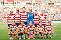 United States (USA) starting XI. The United States (USA) women defeated China PR (CHN) 4-1 during an international friendly at PPL Park in Chester, PA, on May 27, 2012.