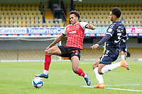 Nathan Ralph, Southend United with a timely intervention on Elliot Bonds, Cheltenham Town during Southend United vs Cheltenham Town, Sky Bet EFL League 2 Football at Roots Hall on 17th October 2020