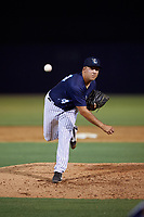 Tampa Tarpons relief pitcher Greg Weissert (34) during a Florida State League game against the Daytona Tortugas on May 17, 2019 at George M. Steinbrenner Field in Tampa, Florida.  Daytona defeated Tampa 8-6.  (Mike Janes/Four Seam Images)