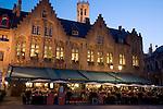 Tom Pouce Restaurant, Borg Place, Bruges, Belgium, Europe