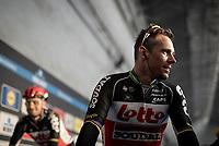 Philippe Gilbert (BEL/Lotto-Soudal) interviewed at the Teams Presentation Start Show<br /> <br /> 75th Omloop Het Nieuwsblad 2020 (1.UWT)<br /> Gent to Ninove (BEL): 200km<br /> <br /> ©kramon
