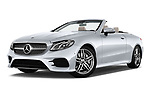Stock pictures of low aggressive front three quarter view of a 2018 Mercedes Benz E Class Base 2 Door Convertible