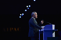 Washington, DC - March 2, 2020: Colombian President Ivan Duque Marquez addresses attendees of the AIPAC Policy Conference at the Washington Convention Center March 2, 2020.  (Photo by Don Baxter/Media Images International)