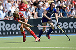 GER - Mannheim, Germany, May 27: During the women semi-final match between Mannheimer HC and Club an der Alster at the Final4 tournament May 27, 2017 at Am Neckarkanal in Mannheim, Germany. (Photo by Dirk Markgraf / www.265-images.com) *** Local caption *** Anne Schroeder #19 of Club an der Alster