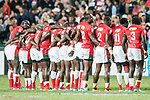 Fiji vs Kenya during their Cup Final match as part of HSBC Hong Kong Rugby Sevens 2018 on 08 April 2018, in Hong Kong, Hong Kong. Photo by Chung Yan Man / Power Sport Images