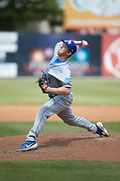 Lexington Legends relief pitcher Tyler Gray (11) in action against the Kannapolis Intimidators at Kannapolis Intimidators Stadium on May 15, 2019 in Kannapolis, North Carolina. The Legends defeated the Intimidators 4-2. (Brian Westerholt/Four Seam Images)