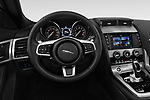 Car pictures of steering wheel view of a 2018 Jaguar F-Type R Dynamic 2 Door Convertible