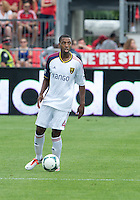 29 June 2013: Real Salt Lake defender Aaron Maund #4 in action during an MLS game between Real Salt Lake and Toronto FC at BMO Field in Toronto, Ontario Canada.<br /> Real Salt Lake won 1-0.