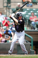 Louisville Bats third baseman Todd Frazier #50 during a game against the Rochester Red Wings at Frontier Field on May 12, 2011 in Rochester, New York.  Louisville defeated Rochester 5-2.  Photo By Mike Janes/Four Seam Images