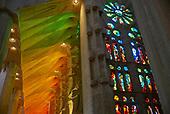 Barcelona, Spain<br /> Catalonia<br /> June 25, 2021<br /> <br /> La Sagrada Familla, Antoni Gaudí's renowned unfinished church, started in the 1880s.
