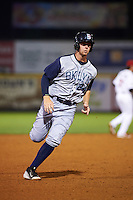 Brooklyn Cyclones designated hitter Jeff Diehl (24) running the bases during a game against the Tri-City ValleyCats on September 1, 2015 at Joseph L. Bruno Stadium in Troy, New York.  Tri-City defeated Brooklyn 5-4.  (Mike Janes/Four Seam Images)