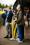 Hucknall fans in yellow and black. Hucknall Town v Heanor Town, 17th October 2020, at the Watnall Road Ground, East Midlands Counties League. Photo by Paul Thompson.