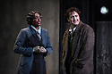 London, UK. 27.10.2014. Jonathan Miller's production, for English National Opera, of LA BOHEME, by Giacomo Puccini, opens at the London Coliseum. Rising star soprano, Angel Blue, makes her role debut as Mimi. Picture shows: Angel Blue (Mimi) and George von Bergen (Marcello). Photograph © Jane Hobson.