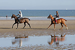 August 14, 2021, Deauville (France) - Polo Ponys training at the beach in Deauville. [Copyright (c) Sandra Scherning/Eclipse Sportswire)]